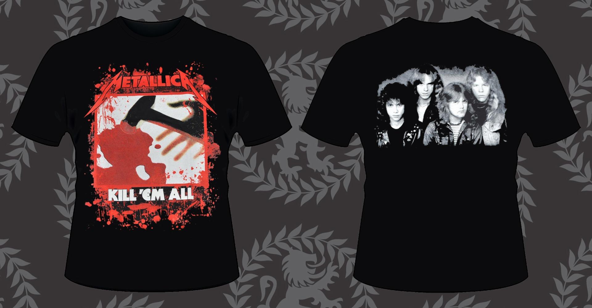 Майки с надписью Metallica заказать